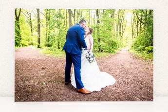 Onze trouwfoto op Dibond via PhotoGifts.nl