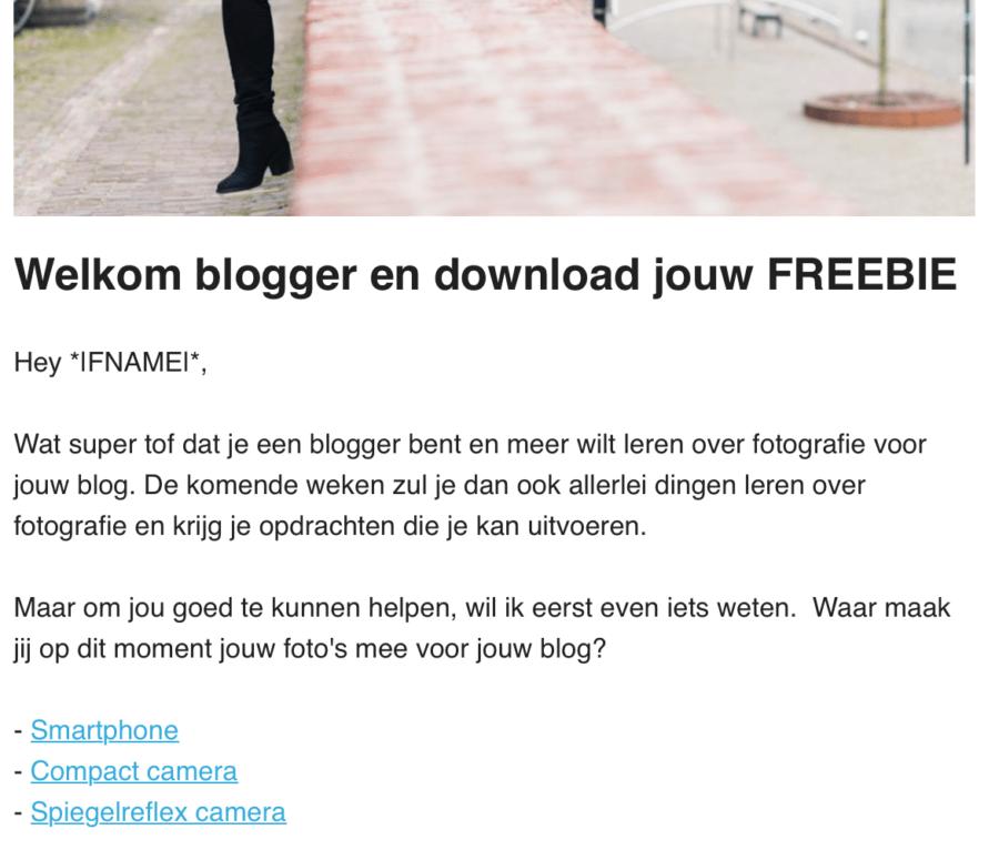 Fotografie voor bloggers cursus