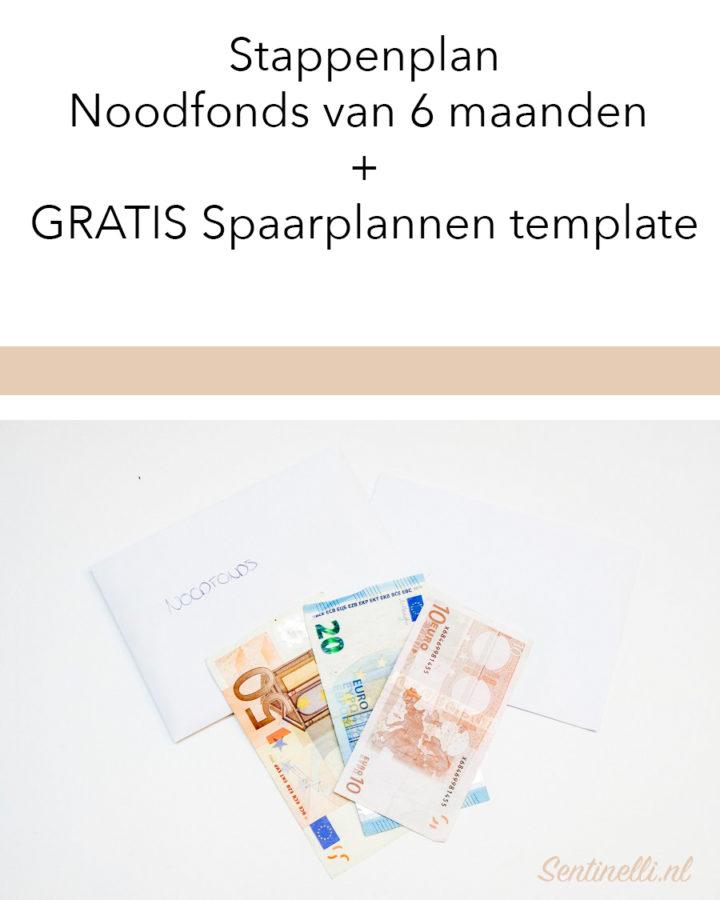 Stappenplan Noodfonds van 6 maanden + GRATIS Spaarplannen template