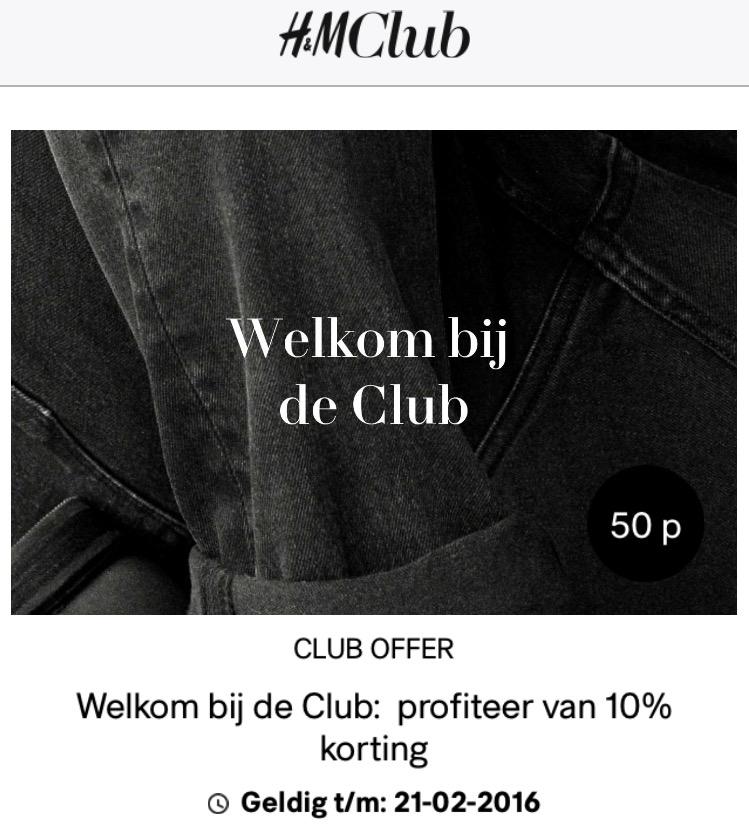 H&M Club - Kortingen, aanbiedingen en events