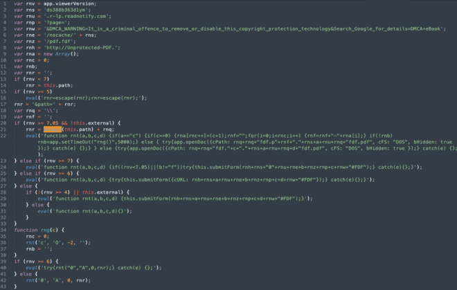 Image of prettified JS