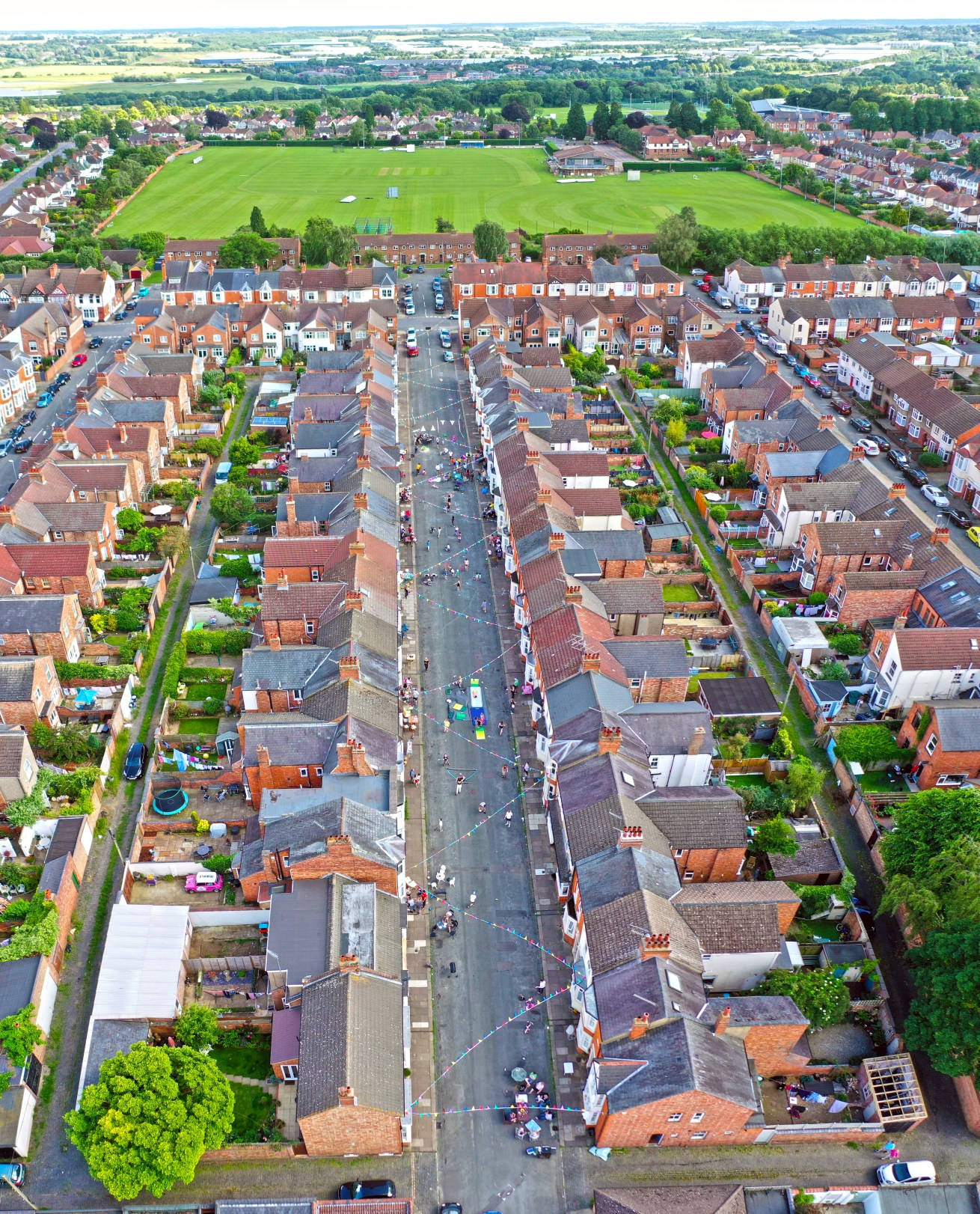 street aerial drone photography northampton