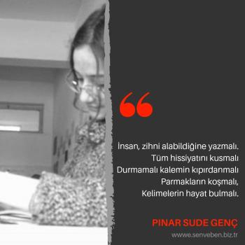 Yazarlarımızdan Alıntılar   Pınar Sude Genç