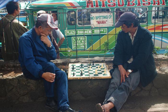 The Igorots love to play chess!