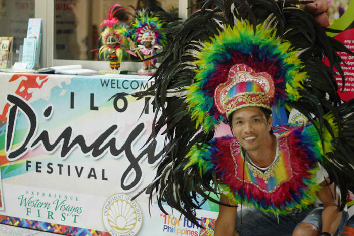 A pic at the airport during Iloilo's Dinagyang Festival