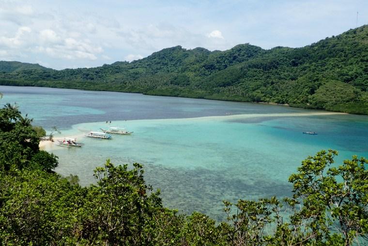The snake-shaped sandbar of Snake island