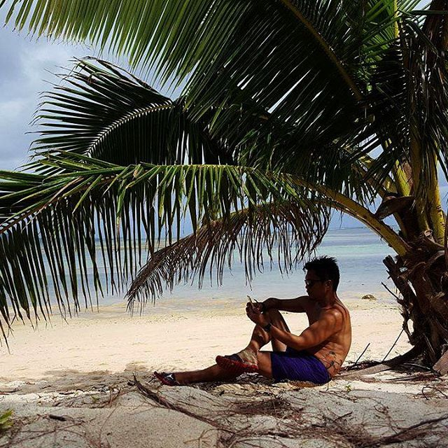 A beach is always better with a coconut tree shadehellip