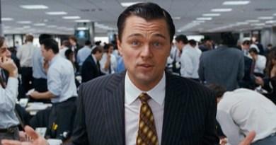 Leonardo Di Caprio in The Wolf Of Wall Street