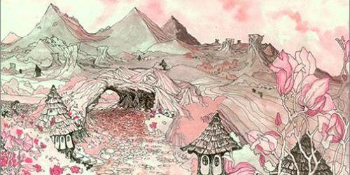 """Copertina di """"In The Land Of Grey and Pink"""" dei Caravan."""