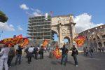 Roma protesta guardie giurate arco di costantino - fotografo: benvegnù - guaitoli - lannutti