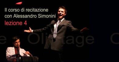 Corso di recitazione con Alessandro Simonini. Lezione 4