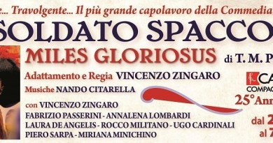 Vincenzo Zingaro è Il Soldato Spaccone di Plauto (1)