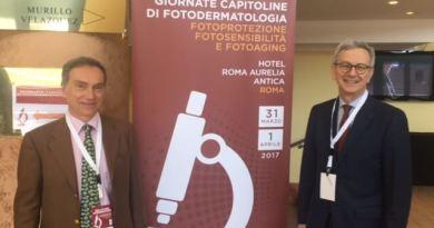 foto convegno a sinistra Dr. Giovanni Leone a destra Dr. Mauro Picardo dermatologia