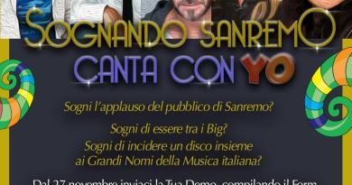 """Dal 27 novembre 2017 al 30 maggio 2018 partecipa a """"Sognando Sanremo Canta con Yo"""",il concorso che fa emergere il talento."""