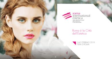 La Fiera di Roma alza il sipario dal 3 al 5 febbraio 2018 sull'undicesima edizione di Roma International Estetica. Due padiglioni di benesserefashion.