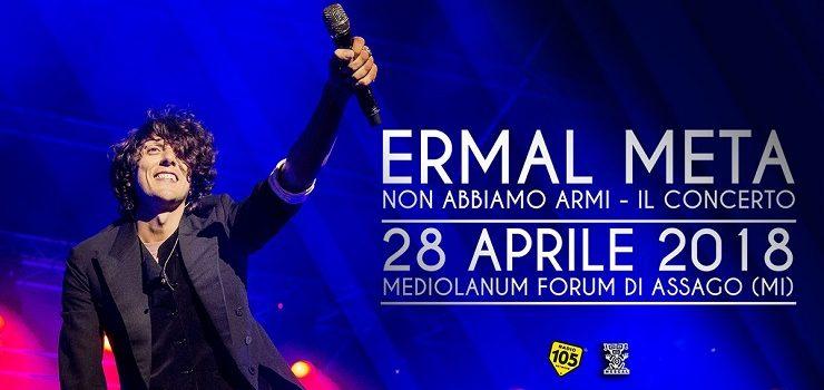 Dopo gli appuntamenti con gli instore per il suo ultimo lavoro, Non abbiamo armi, Ermal Meta svela le prime dieci date del suo tour.