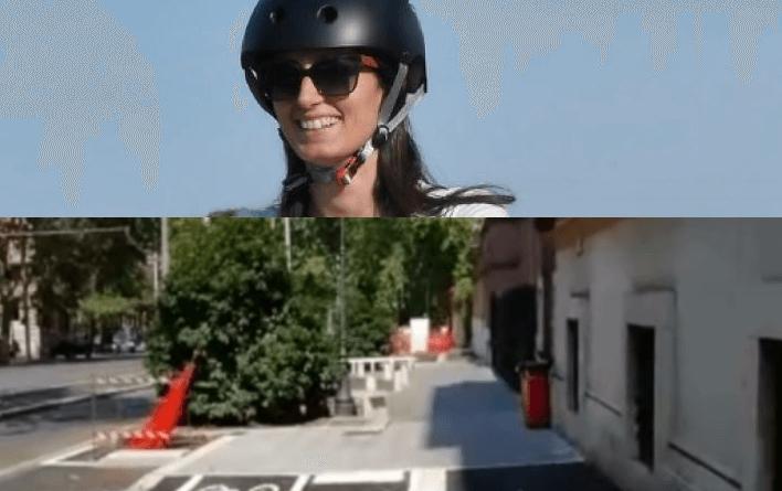 Serenetta Monti, del sindacato USI (Unione Sindacale italiana) ci ha fatto vedere questo video girato il 21 agosto sulla ciclabile Nomentana. Pista a singhiozzo e gossip!