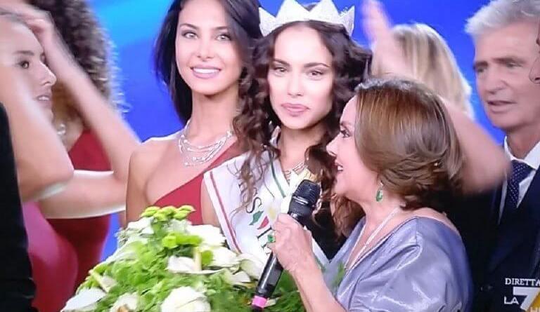 Carlotta Maggiorana, 26enne di Montegiorgio, paese in provincia di Fermo, è Miss Italia 2018, davanti a Fiorenza D'Antonio e Chiara Bordi.