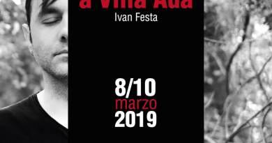 Pasolini a villa Ada, da un'idea di Ivan Festa. Tratto dal racconto di Giorgio Manacorda, diretto e interpretato da Ivan Festa. Dall'8 al 10 marzo a Teatrosophia.