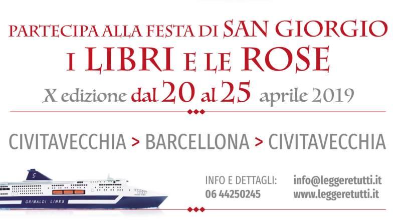 """L'Italia partecipa al Dia de Sant Jordi con una grande festa per la decima edizione di """"Una nave di libri per Barcellona"""""""