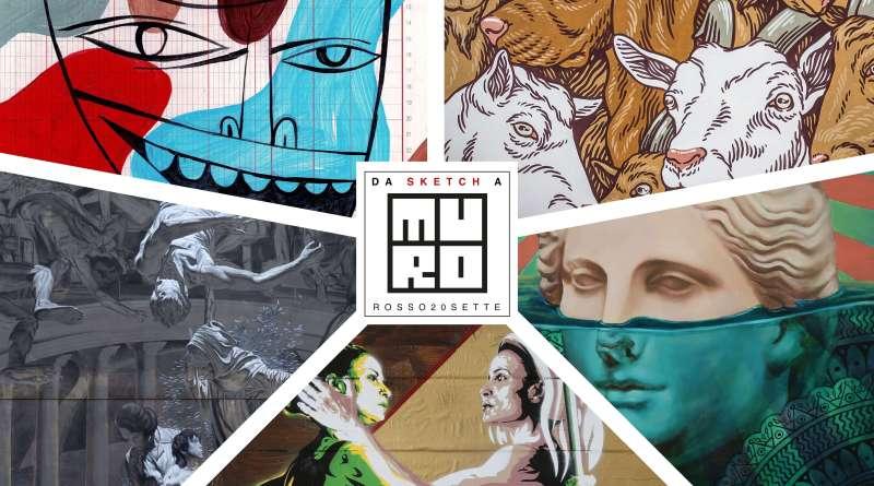 Da Sketch a MURo Jim Avignon, Lucamaleonte, Beau Stanton, David Diavù Vecchiato, Nicola Verlato. A cura del MURo Museo di Urban Art di Roma.