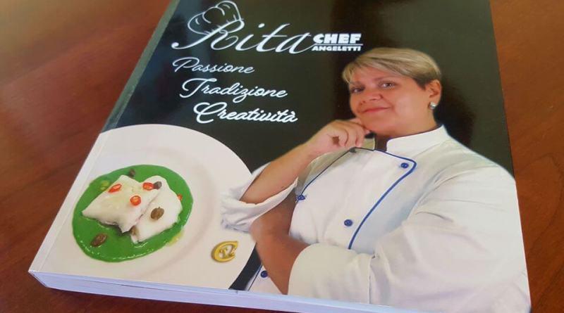 """Rita Angeletti, in arte Rita Chef, conosciuta per il suo canale YouTube, presenta a Roma il suo primo libro """"Passione Tradizione Creatività""""."""