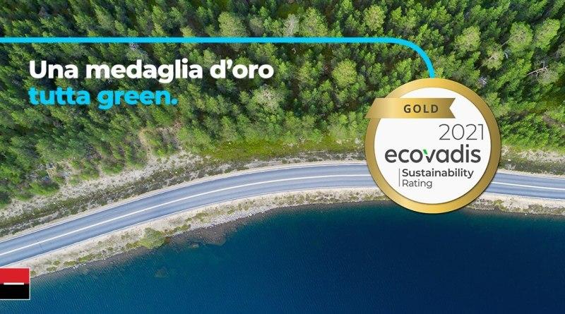 ALD Automotive Italia, azienda leader nel noleggio a lungo termine, ha ottenuto per il 2021 il livello di Medaglia d'Oro dalla piattaforma di Corporate Social Responsibility EcoVadis.