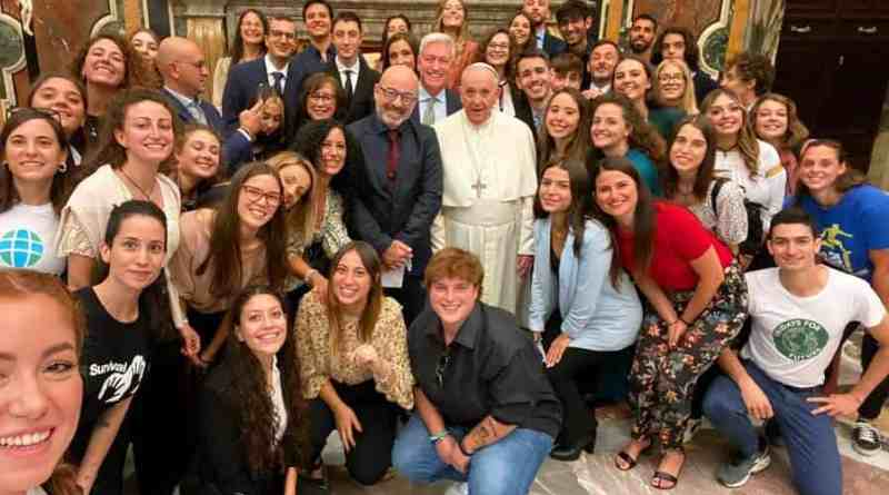 Oggi incontro privato del Santo Padre con il Ministro Roberto Cingolani, una delegazione di 50 ragazzi dell'Earth Day