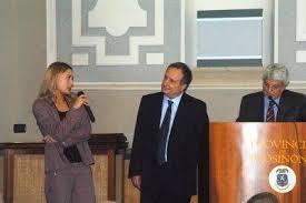 Fabio Morabito durante un incontro con i cronisti romani