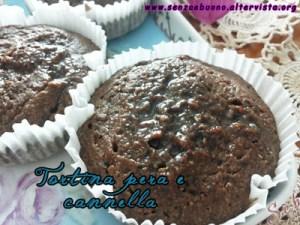 Tortine vegan e senza glutine pera e cannella