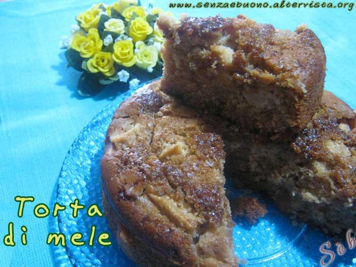 Torta di mele senza glutine e vegan