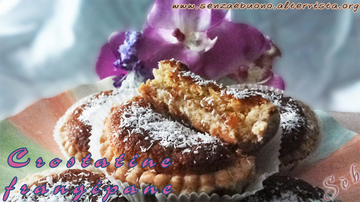 Crostatine frangipane al cocco