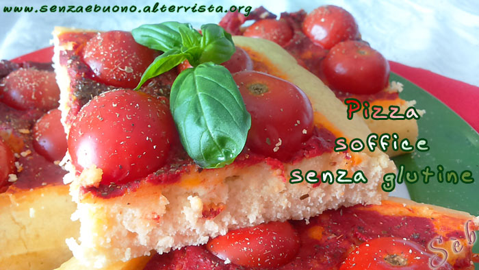 Pizza soffice senza glutine