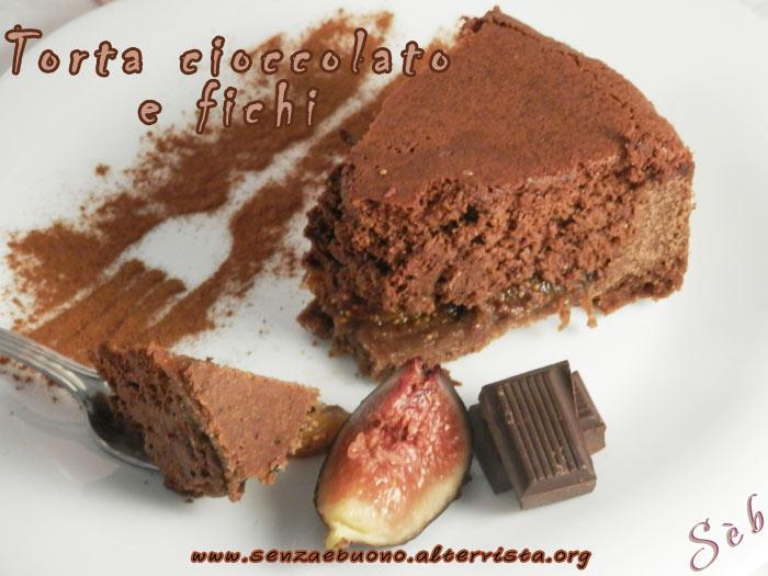 Torta cioccolato e fichi