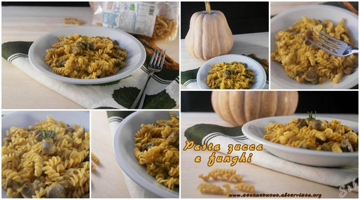pasta zucca e funghi ad alto contenuto di fibre