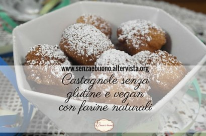 Castagnole senza glutine e vegan