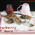 Strawberry oat bars vegan e senza glutine