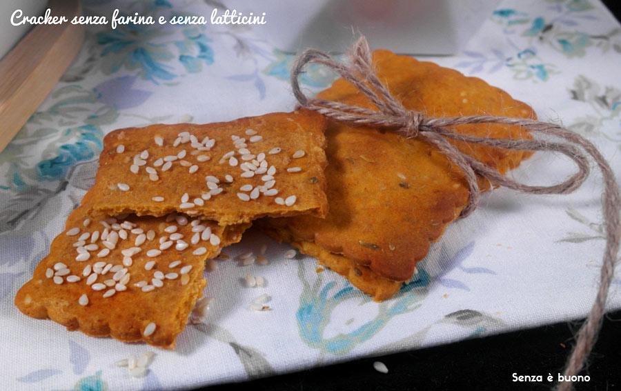 Cracker senza farina