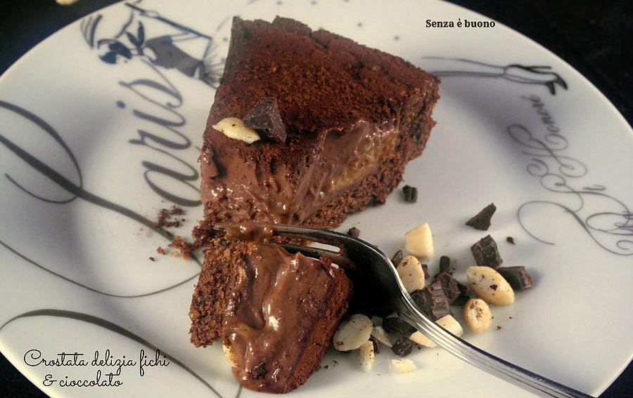 Crostata delizia fichi e cioccolato