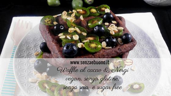 Waffle al cacao  Nergi vegan senza glutine Senza  buono