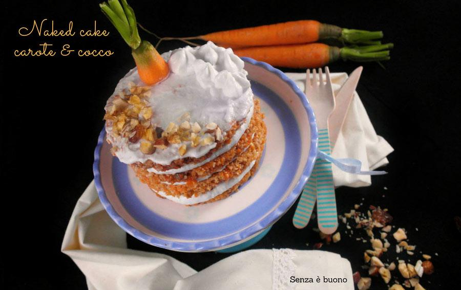 Naked cake carote e cocco