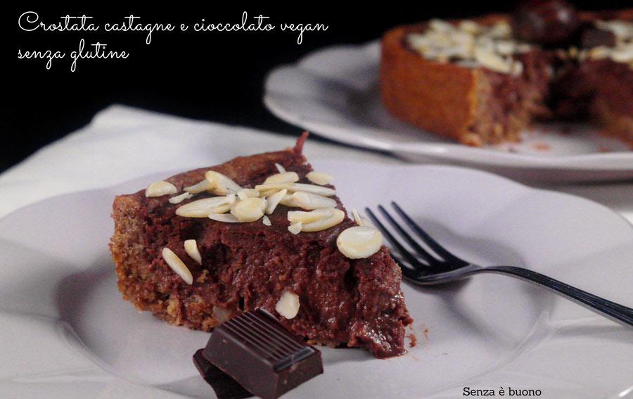 Crostata castagne e cioccolato senza glutine vegan