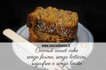 Coconut carrot cake senza farina sugarfree