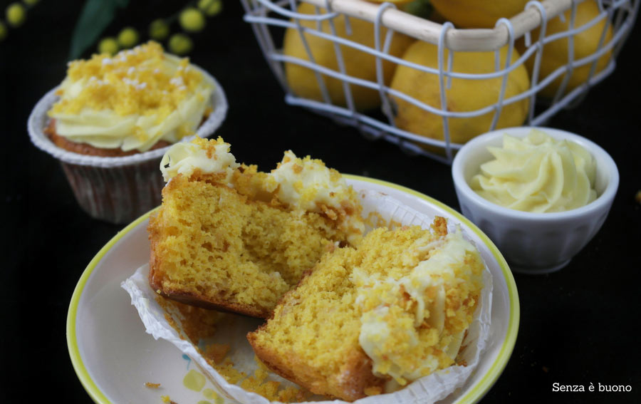 Mimosa cupcake senza glutine senza latticini, senza nichel