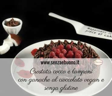 Crostata cocco e lamponi vegan senza glutine