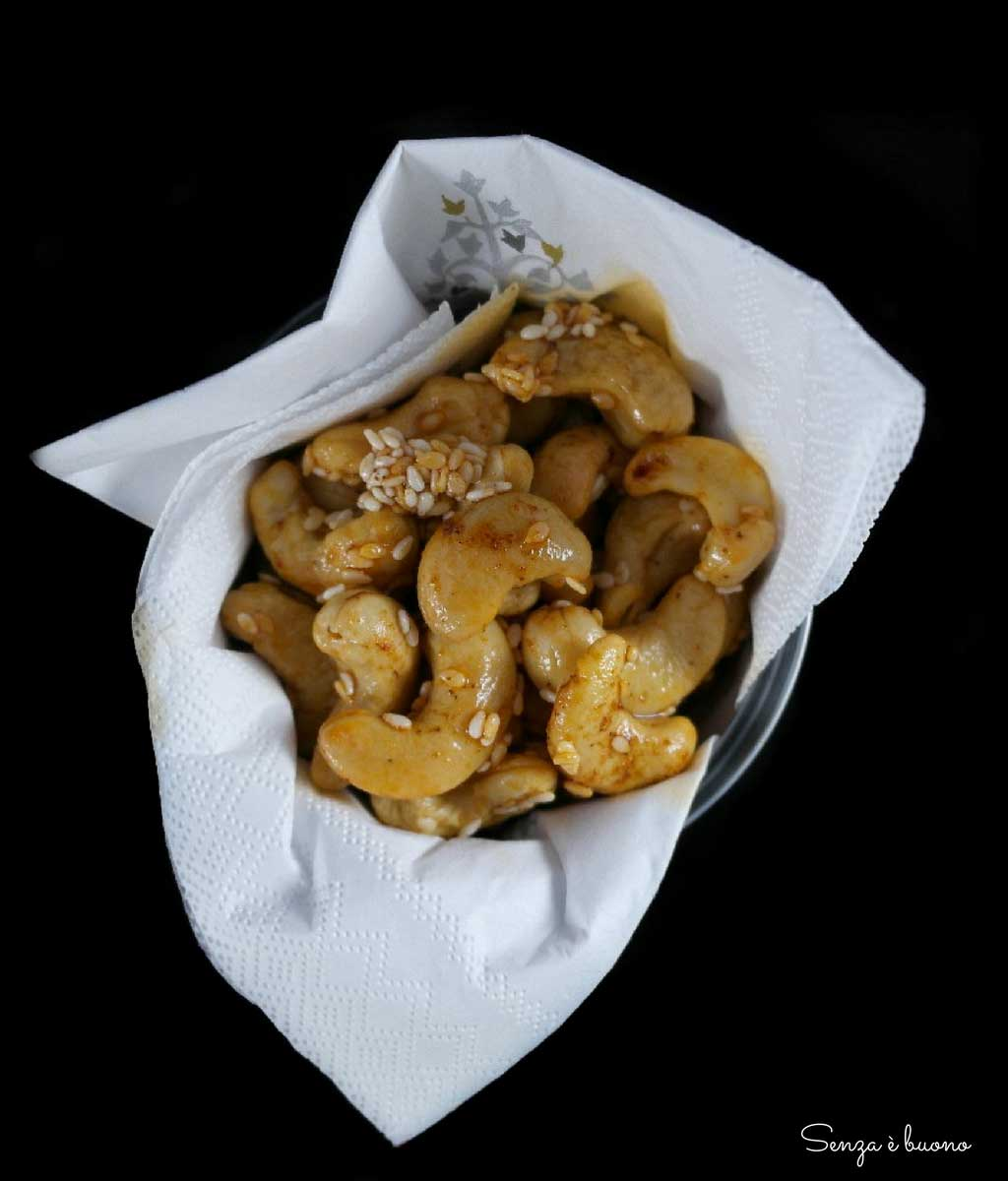 Anacardi, aperitivo senza glutine