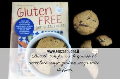Biscotti al cioccolato con farina di quinoa senza glutine senza burro