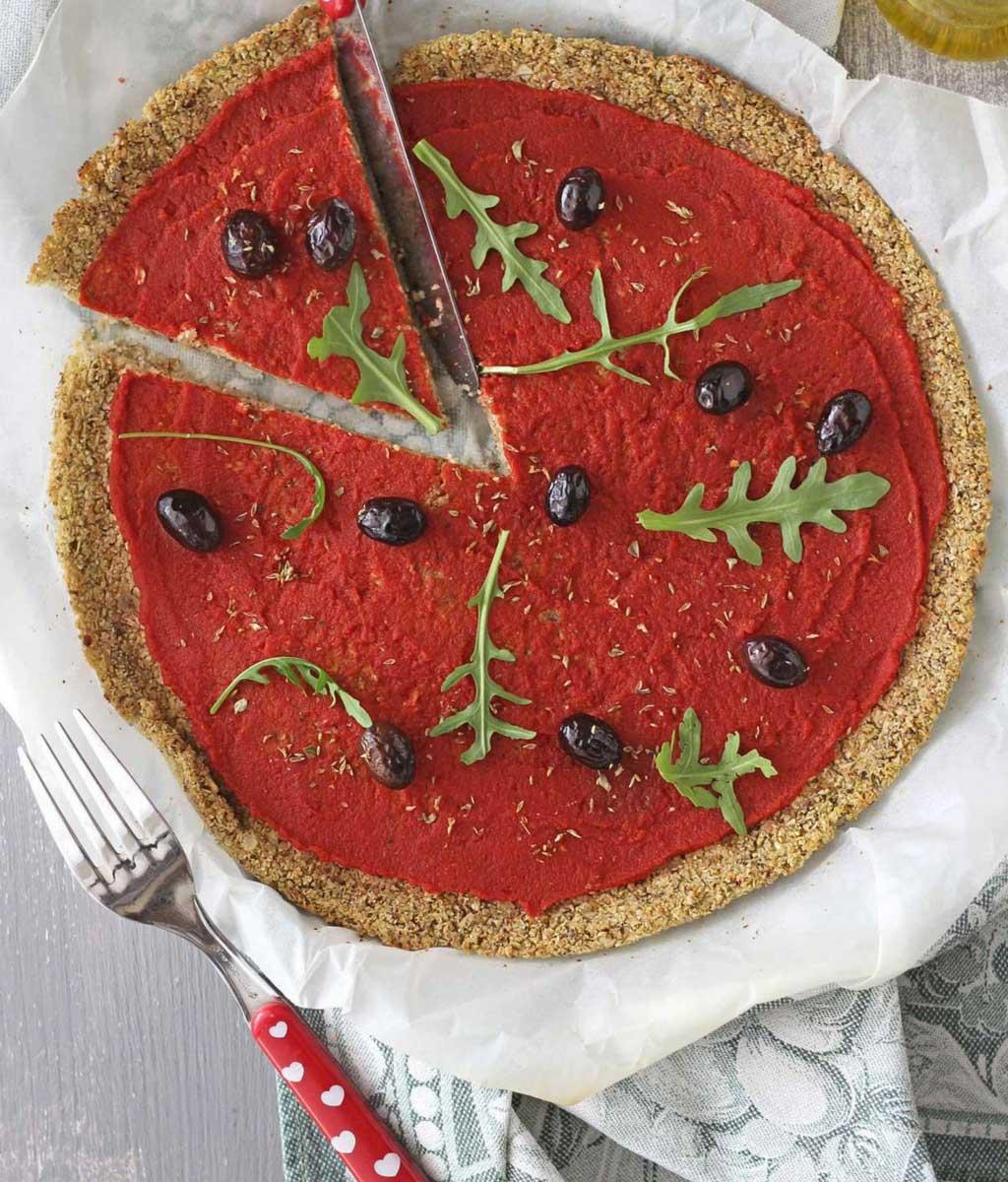 Pizza cavolfiore senza farina vegan