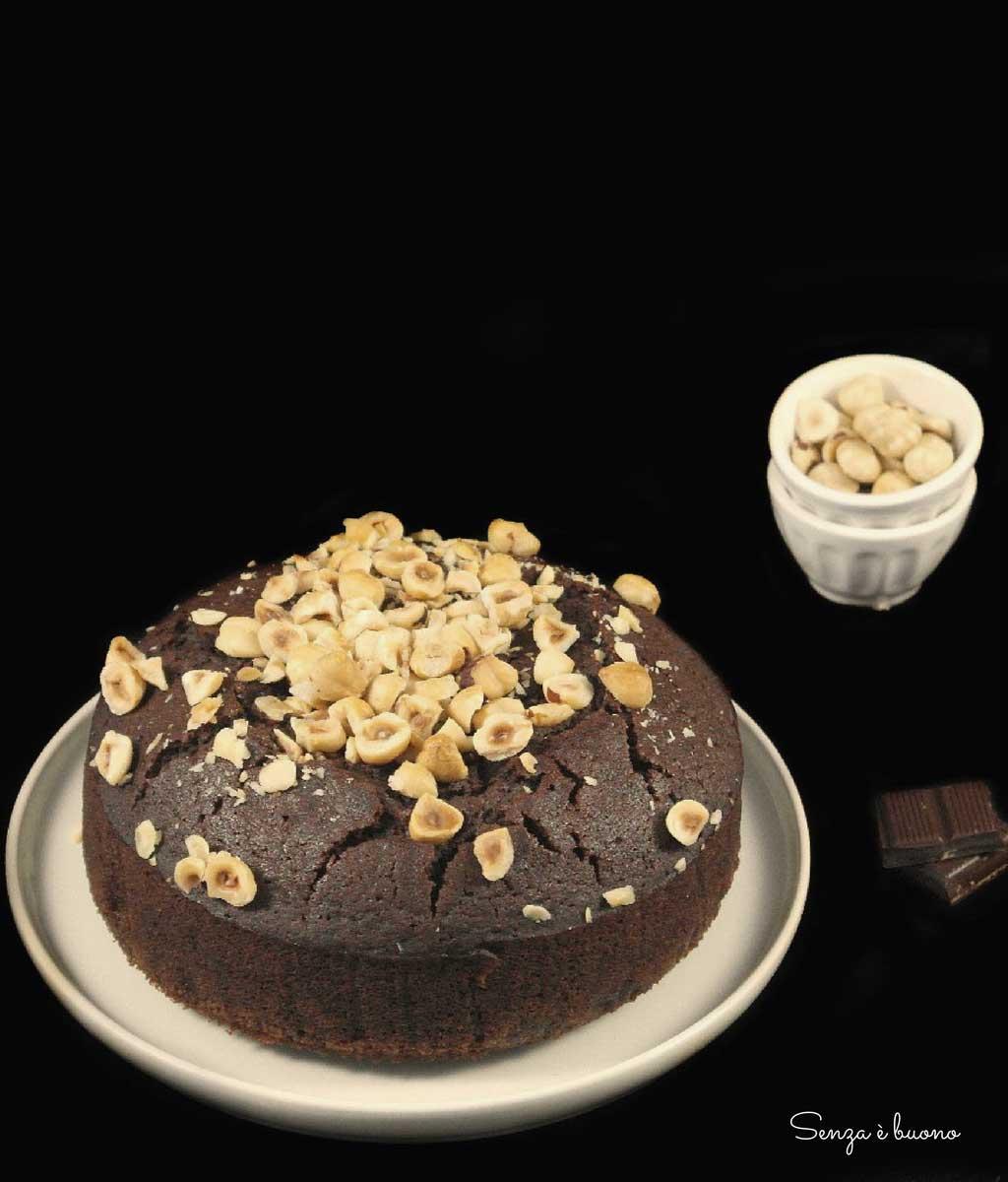 Torta al cacao con soli albumi senza glutine