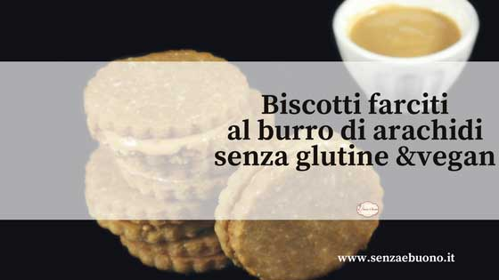 Biscotti alle arachidi senza glutine vegan
